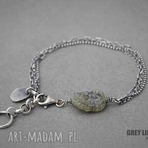 Bransoletka mini ze szkłem antycznym I, srebro, mini, szkło, antyczne