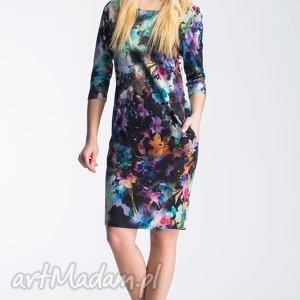 oryginalny prezent, sukienki sukienka sonia mini azalia, kieszenie, biodra