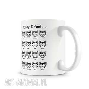 unikalny, kubek - koci nastrój, kubek, prezent, kot, koty, kawa, herbata kubki
