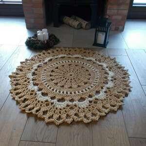 oryginalne prezenty, artedania dywan aurelia 100 cm, szydełkowy