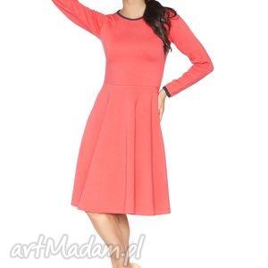 rozkloszowana sukienka f_9 - rawear, sportowa, dresowa, wygodna, midi