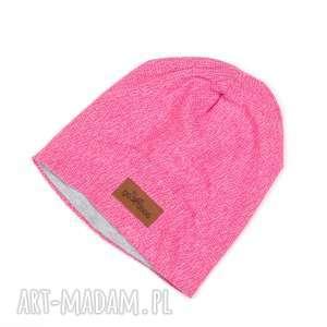 ciepła czapka beanie różowa na prezent - czapka, beanie, ciepła, unisex