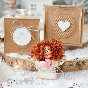 Pomysł na upominek świąteczny: Świąteczny aniołek w pudełeczku,