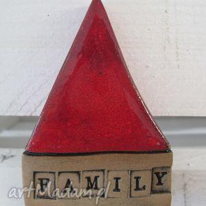 domek family, stojący, dom, rodzina, motto