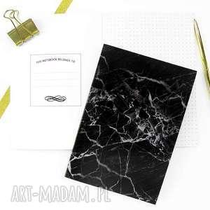 notesy czarny marmurowy zeszyt, notes w kropki a5, notes, bujo, journal, zeszyt