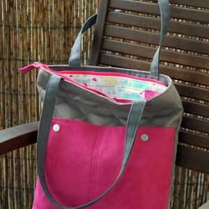 Pikowana torba na ramię happyart torebka, codzienna, motyw