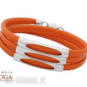 Bracelet in orange. - ,rzemień,