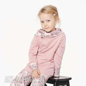 mamaiti bluza dla dziecka z komino-kapturem jednorożce w kwiatach 80/86, 92/98