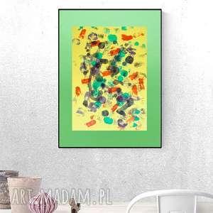 abstrakcyjna grafika na ścianę, nowoczesna dekoracja, abstrakcja do sypialni