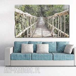 aleobrazy obraz xxl most 2 - 120x70cm na płótnie loft, most, wiszący, obraz