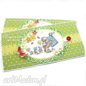 Mam Roczek - kartka urodzinowa unisex, urodziny, roczek, kropki, motyl, miś, unisex