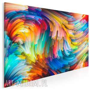 obraz na płótnie - kolorowe linie 120x80 cm 20901, linie, paski, kolory