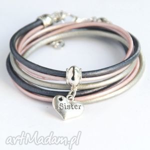 dla siostry - pomysł na prezent silver pink, siostra biżuteria