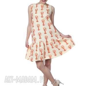 Bardzo kobieca i niezwykła sukienka w homary hit lata sukienki