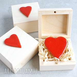 Serce w pudełku, walentynki, romantyczne, pudełko, magnes