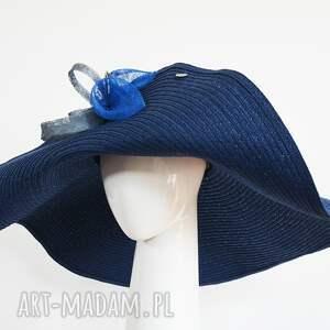 madame blue, kapelusz, letni, niebieski