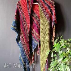 ręczne wykonanie chustki i apaszki wełniana chusta w stylu boho