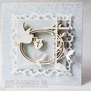 scrapbooking kartki pamiątka chrztu - w pudełku, pamiątka, chrzest, zaproszenie