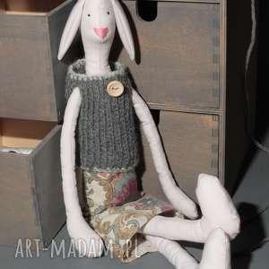 Prezent Królik TILDA w sweterku na prezent dla dziecka, królik, tilda,