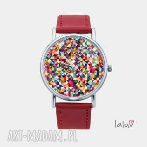 Prezent Zegarek z grafiką SETKA, trójkąty, dużo, prezent, dla, niej, zwariowane