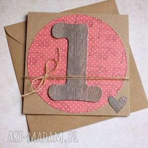 kartki na roczek liski kartka handmade, roczek, urodziny, urodzinki, lis