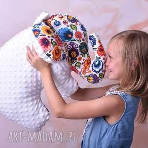 Poduszka dziecięca słoń maskotki ateliermalegodesignu słoń-na