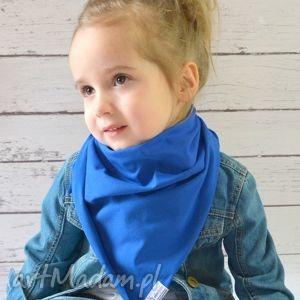 chusteczka apaszka dla dzieci bawełniana kobaltowa, bawełna, dzianina, wiosna, eko