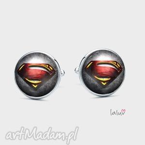 spinki do mankietów man of steel - supermen, superbohater, film, komiks, kryptonit