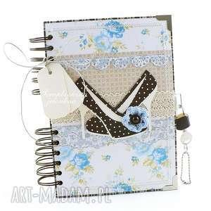 "Notes ""szpilki"" - zamykany na kłódkę scrapbooking notesy"