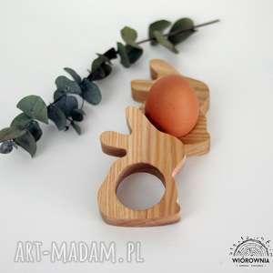 handmade podkładki drewniana podstawka pod jajko - zajączek
