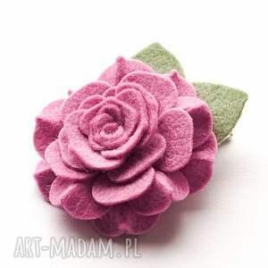 dla dziecka spinka do włosów camelia rose pink, włosów, kwiatek