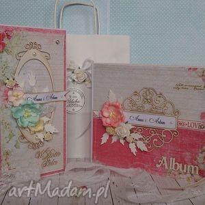 Zestaw upominkowy na ślub - ,album,kartka,ślub,wesele,prezent,zestaw,