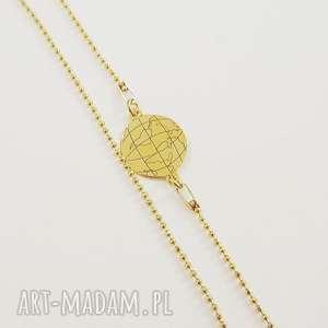 Naszyjnik globus świat, globus, łańcuszek, celebrytka, modny, podróżnik