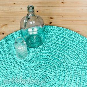 dywanik miętowy 90 cm ze sznurka bawełnianego, dywan, dywanik, chodnik, sznurek