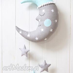 Księżyc z gwiazdkami, księżyc, karuzela, dekoracja, gwiazdki, mobil, gwiazda