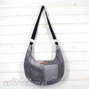 hand-made na ramię torba listonoszka na ramię mala hobo