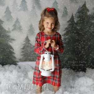 hand made święta upominek sukienka w krate