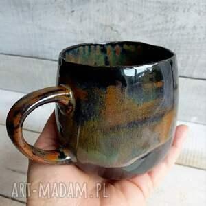 kubki duży ręcznie robiony kubek w brązach 420ml, ceramiczny