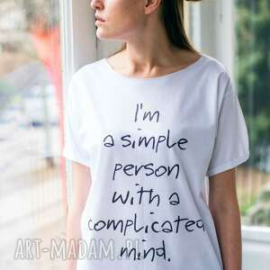 great as you simple person oversize t-shirt, oversize, tshirt, biały, casual, moda