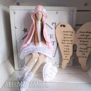 Anioł tilda na pamiątkę chrztu pierwszej komunii lalki
