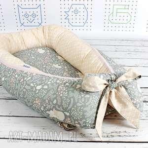 Kokon gniazdo dla niemowlaka - lisy szare pokoik dziecka nuvaart