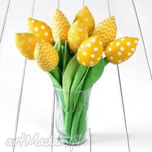 Prezent TULIPANY żółty bawełniany bukiet, tulipany, prezent, kwiaty