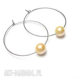 ki ka pracownia alloys collection /one pearl/yellow, stal, szlachetna, perły, majorka