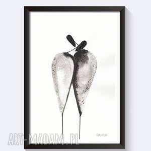 GRAFIKA DO RAMKI, rysunek tuszem Relationships, obrazy-do-salonu, obraz-abstrakcja