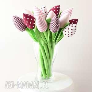 tulipany, dekoracja, wielkanoc, bukiet, tulipanów, kwiatki, święta