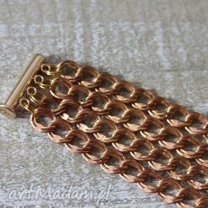 bransoletki bransoletka ze złotych łańcuszków, bransoleta, łańcuszki, łańcuch