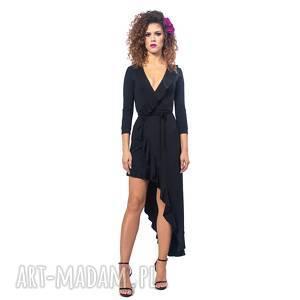 sukienki elena 2 black night, elastyczna, wygodna, asymetryczna