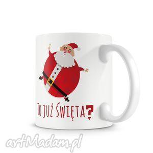 upominki święta KUBEK - to już święta?, kubek, prezent, święta, mikołaj, kawa