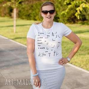 koszulka t-shirt line is a dot that went for walk, klee, sztuka, bauhaus