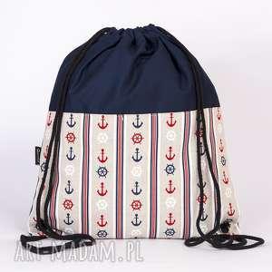 Marynarski, kotwice, marynarski, worek, plecak